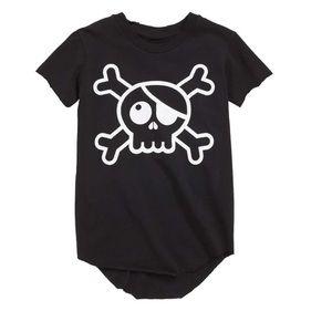 NEW • Nununu • Raw Skull Onesie Baby 12-18 Months